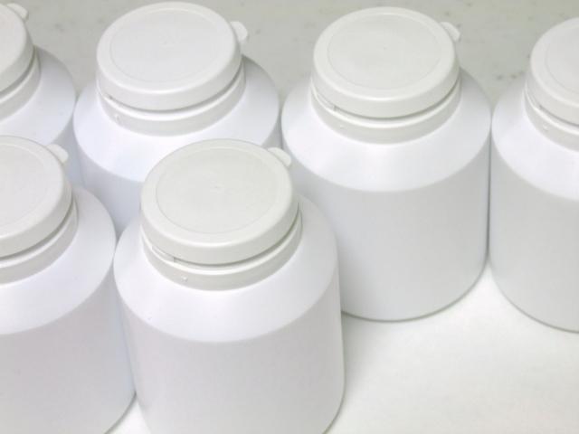 複数のサプリメントの容器