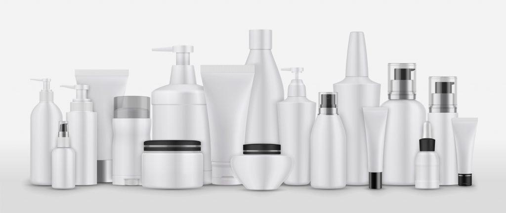 さまざまな化粧品の容器
